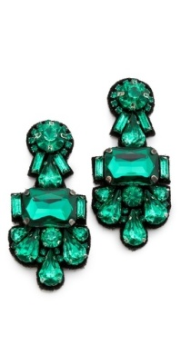 Deepa Gurnani Crystal Cluster Earrings