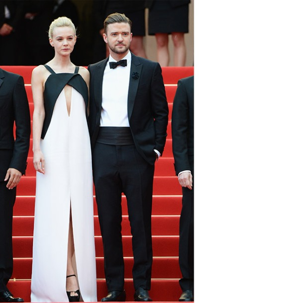 Carey Mulligan, in Vionnet, with Brian Atwood shoes, and Justin Timberlake, in Balenciaga