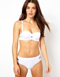River Island Solid Bustier Bikini Top