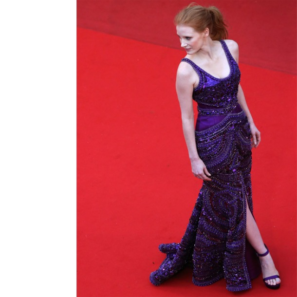 Jessica Chastain, in custom Givenchy Haute Couture