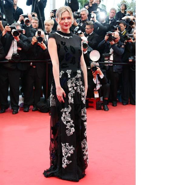 Kirsten Dunst, in Michael van der Ham, with Chanel fine jewels