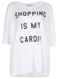 WILDFOX Shopping Is My Cardio' t-shirt