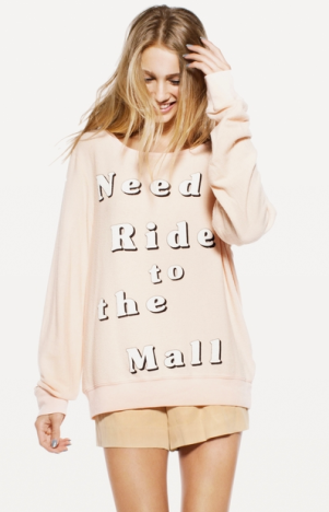 Wildfox Need Ride to the Mall Long Sleeve
